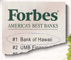 Forbes Magazine,January 2010 AMERICA'S BEST BANKS